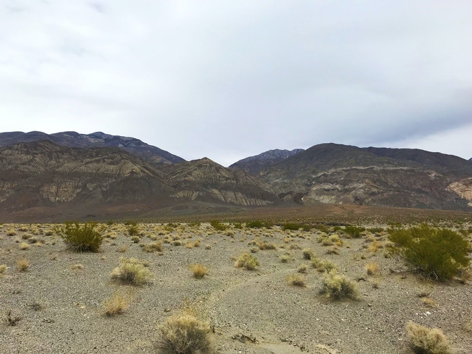 The colorful Panamint Range separates Panamint Valley from Death Valley