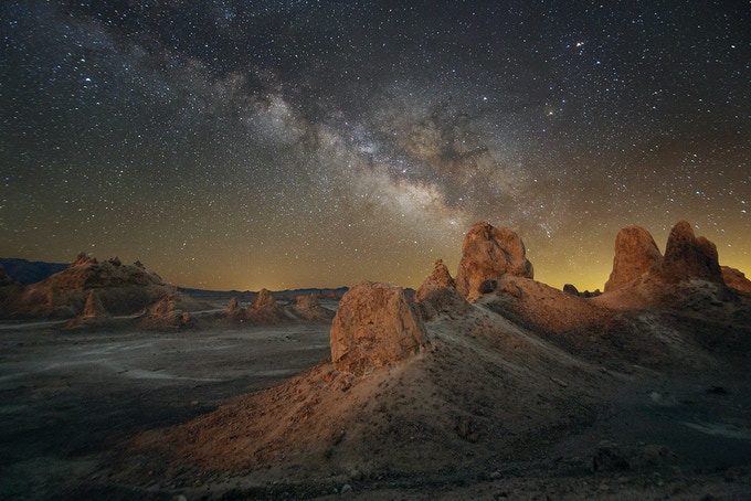 The Trona Pinnacles are a scenic 45-60 minute drive