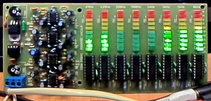 Self made LED spectrum analyzer found on Ebay
