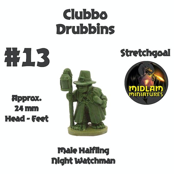Clubbo Drubbins - Halfling Nightwatchman!