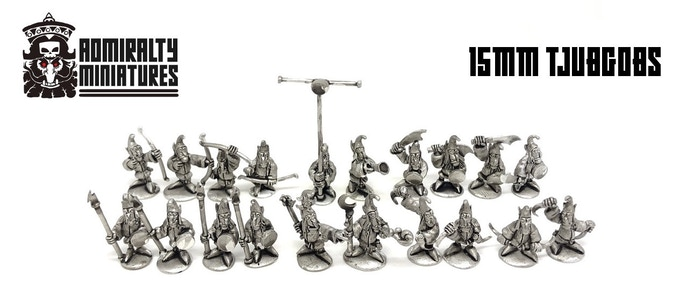 6 different kits of Tjubgob infantry, from rank and file to commanding characters.