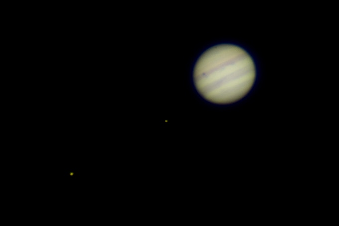 Jupiter and its moons captured with the 130 year old Great Lick Refractor