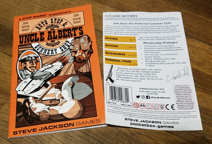 Uncle Al's 2039 catalog, including the false back cover that will be shrinkwrapped to the book.