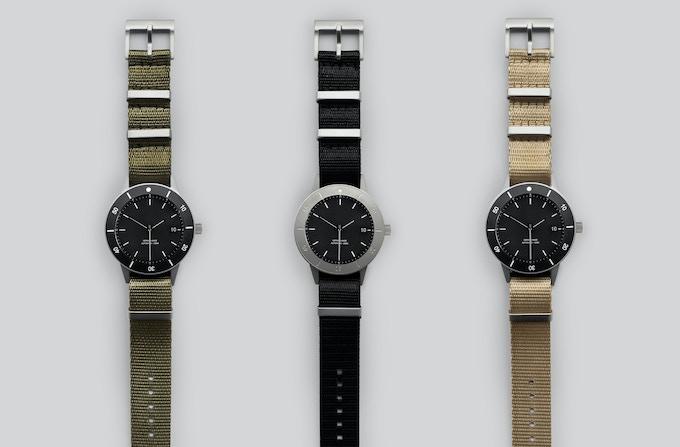 Olive, black and sand NATO straps.