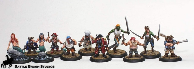 All the miniatures from our first campaign
