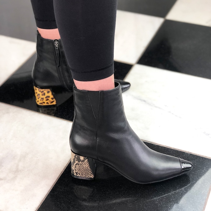 Leopard and Python Print Heel Covers