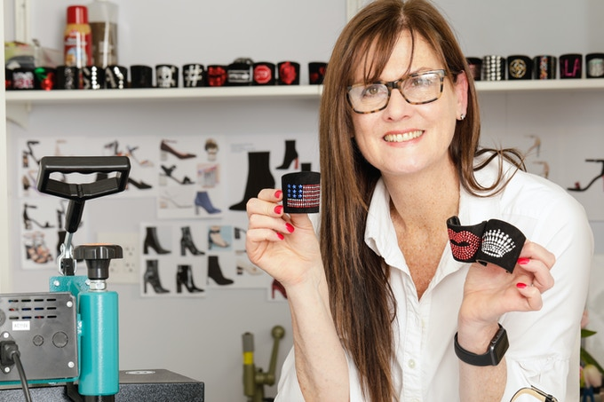 Kara Mac in the ShoeCandy® Design Studio in New York