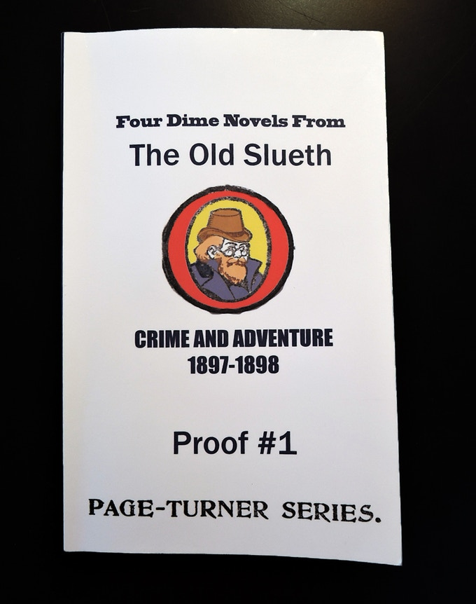 This proof was ordered after the novels were read and scanned.  It was used a guide to fix unreadable text.  The cover is temporary and is not going to be used on the finished book.