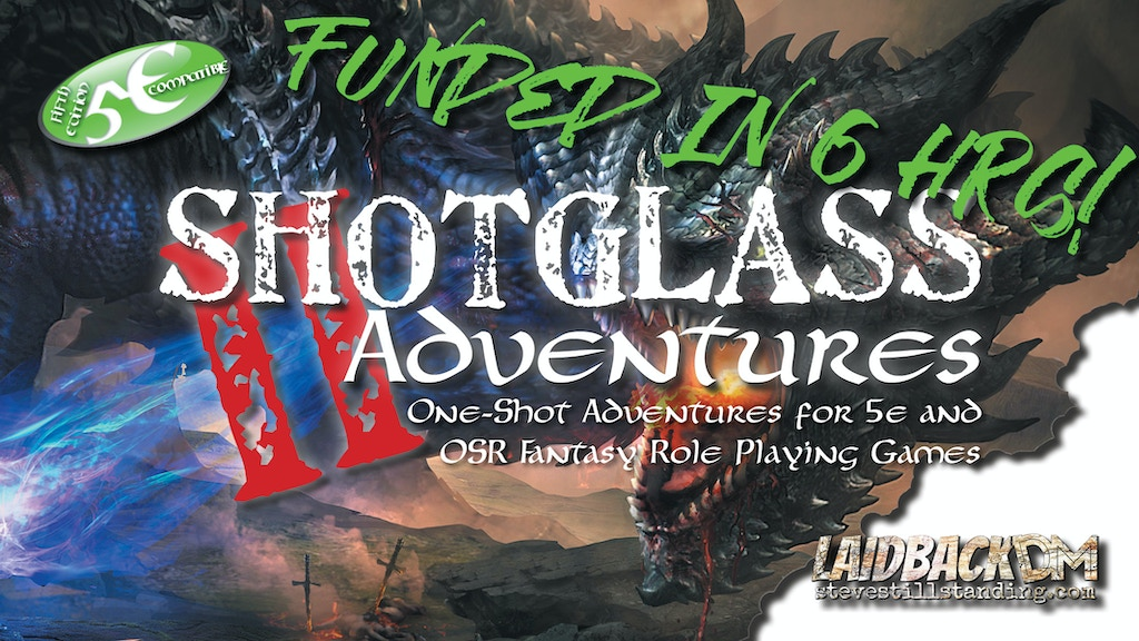 Project image for Shotglass Adventures 2 - 10 adventures for D&D 5e & OSR RPGs