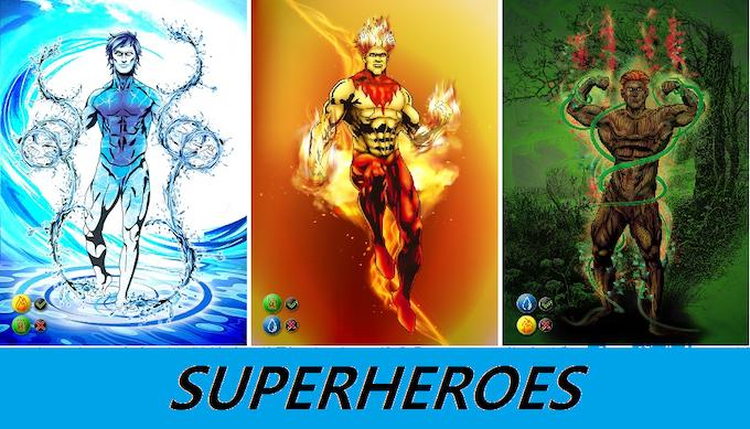 Cartas de los superhéroes/ Superheroes cards.