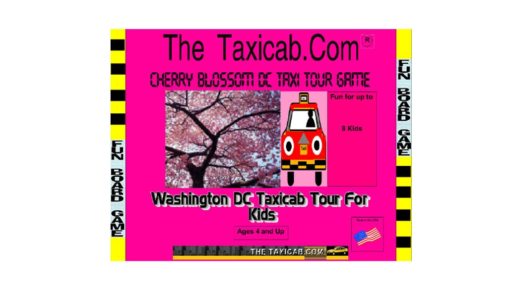 Project image for The Taxicab.com Cherry Blossom DC Tour Board Game