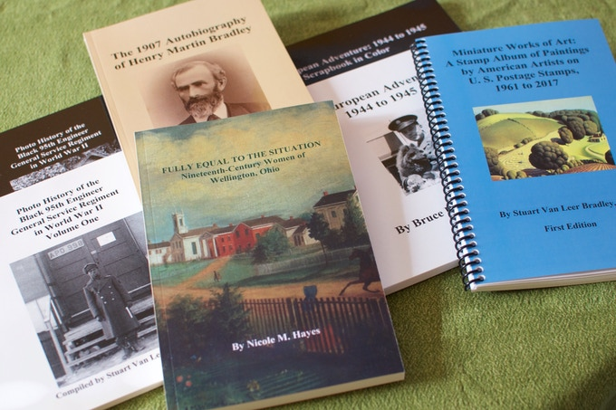 Here are the seven books I have published through Railway Station Press.
