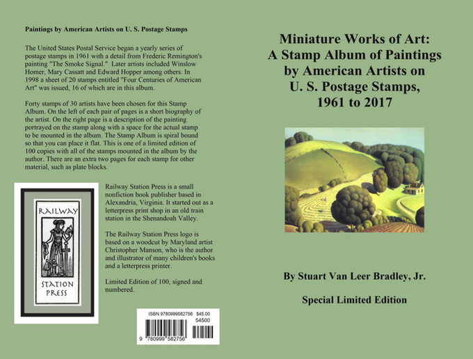 Here is the cover of our American Art Stamp Album which sold out of all one hundred copies