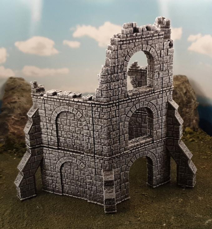 Hexagonal tower ruin