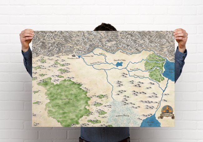Cartographic Artist: Tania Gomes (Click on image to see her biography page)/ image is of the Glenfallow Regional Map Tania created for a previous Sinopa Publishing project