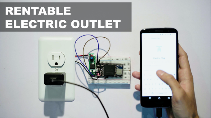 Build an electric outlet or a charging station that you can rent using crypto
