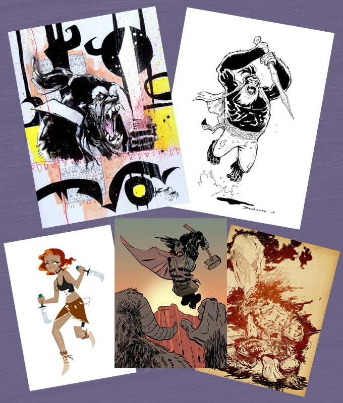 The Silverbeard Gallery pages include work by Jim Mahfood, Nick Brokenshire, Daisy Taylor, Russell Mark Olson & Nick Prolix
