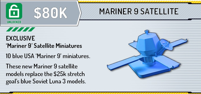 Based on pledge supporter requests, we have created the American 'Mariner 9' satellite miniature for the USA Space Agency players!