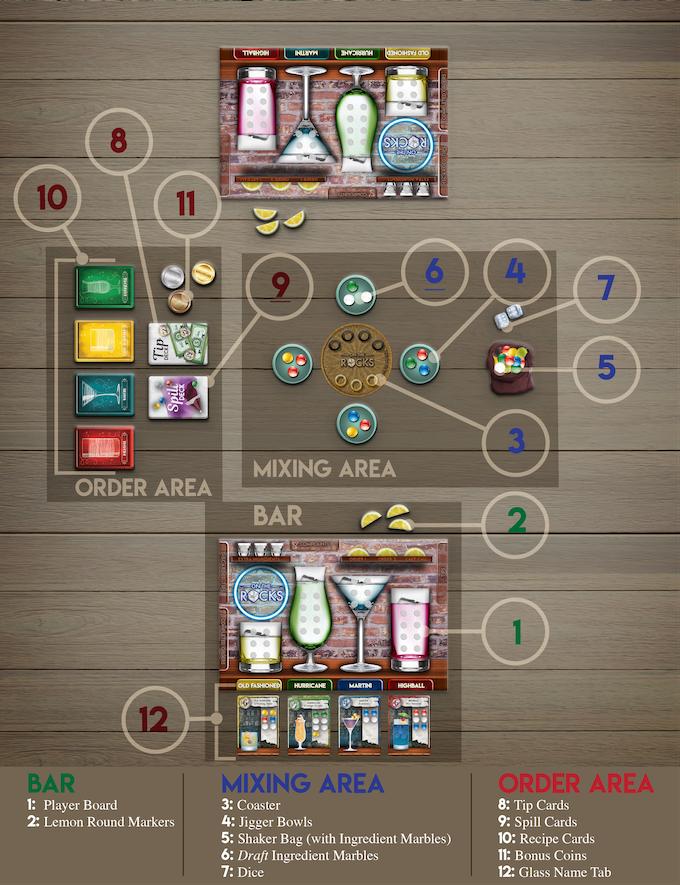 2 player setup shown