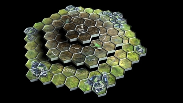 3D Expandable & Rotating Board As you chart your path toward victory rotate the board.  Helping to shorten your journey OR making it harder for other players.