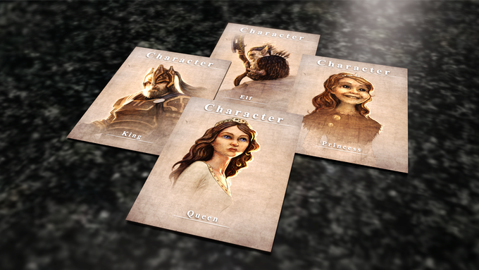Before the game begins you'll chose one of seven character cards.  Each having their own unique character traits skills and strengths.