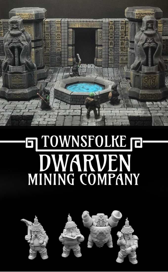 Backers at the $40 level and higher will get a little extra dwarfness in the Dwarven Hold ScatterBlocks and Dwarven Mining Company sets (both from our previous Kickstarter campaigns) in addition to the module rewards.