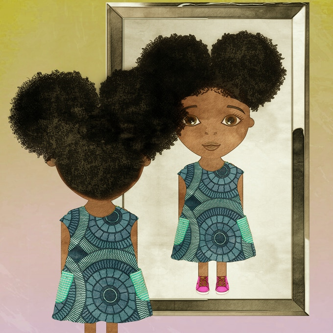 One of Coco's seven different hair styles