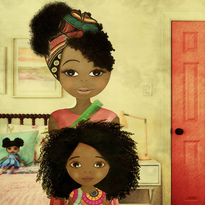 Coco asks her mum to style her curly hair in a different style for each day of the week.