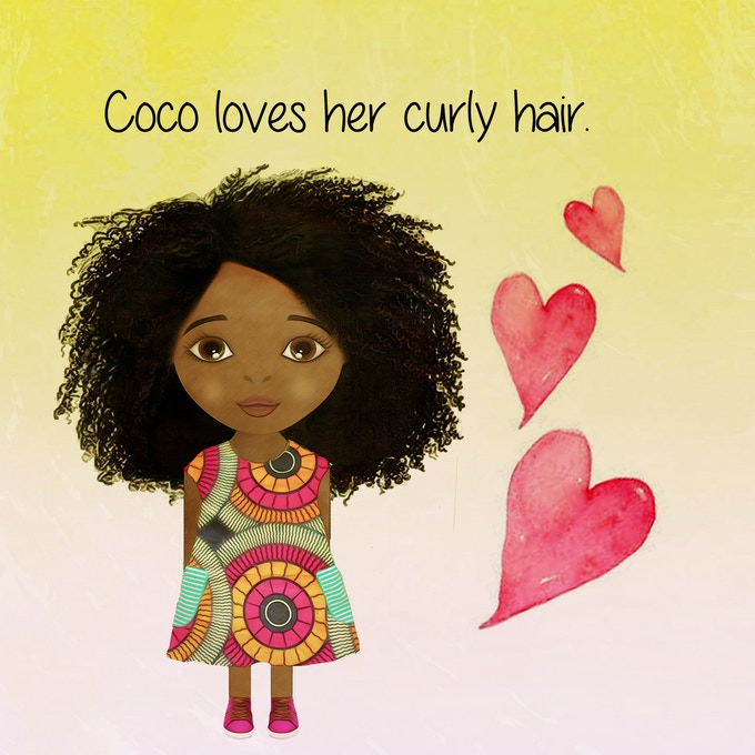 Coco really loves her versatile hair which makes her unique and different from the other kids in her class at school