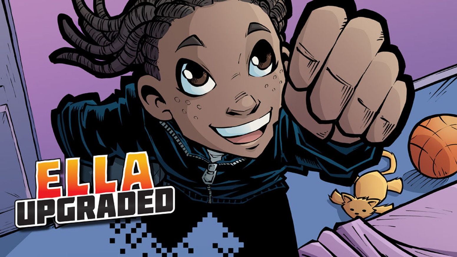 Help us fund the first volume of Ella Upgraded, a tween superhero comic about a girl with a games console in her brain!