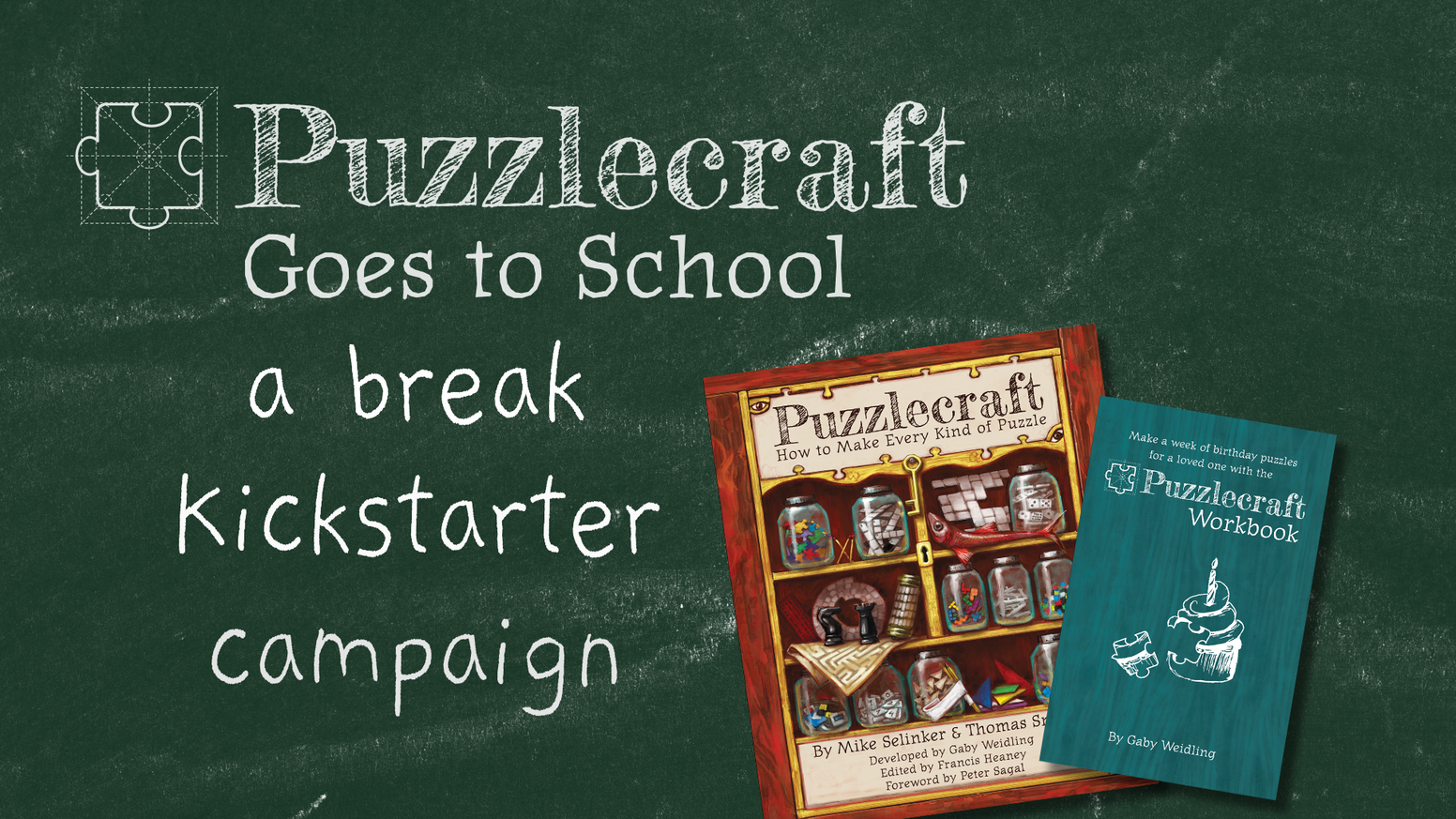 We're sending the new edition of Puzzlecraft: How to Make Every Kind of Puzzle to US schools & libraries.