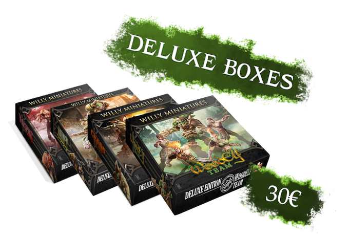 You can choose Ratmen, Chaos Pact, Wood Elves, Chaos, Vampires or the Generic Box. Each Deluxe Box includes a 2 sided pitch, 2 reversible dugouts and a foam tray to storage and carry your miniatures.