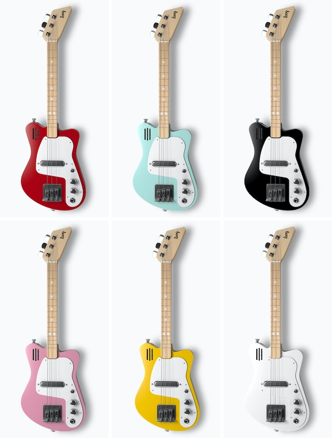 Loog Mini Electric: A tiny electric guitar with a built-in amp! (You'll be able to choose colors after the campaign ends.)