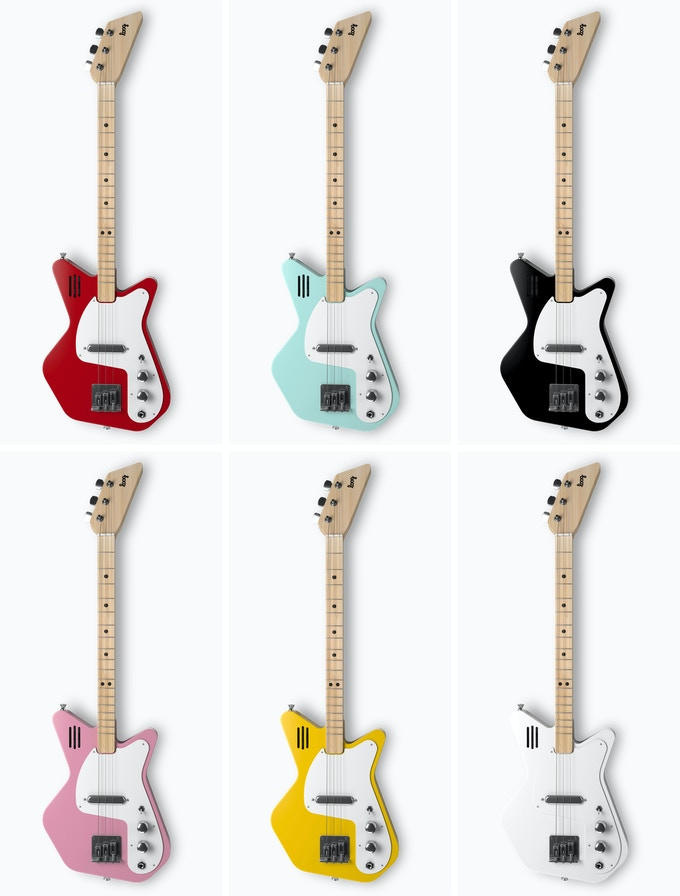 Loog Pro Electric: designed for kids as young as 8, good enough for pros! (You'll be able to choose colors after the campaign ends.)