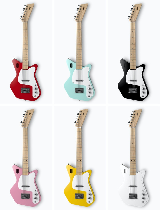 Loog Pro VI Electric: Our first 6-string guitar! (You'll be able to choose colors after the campaign ends.)