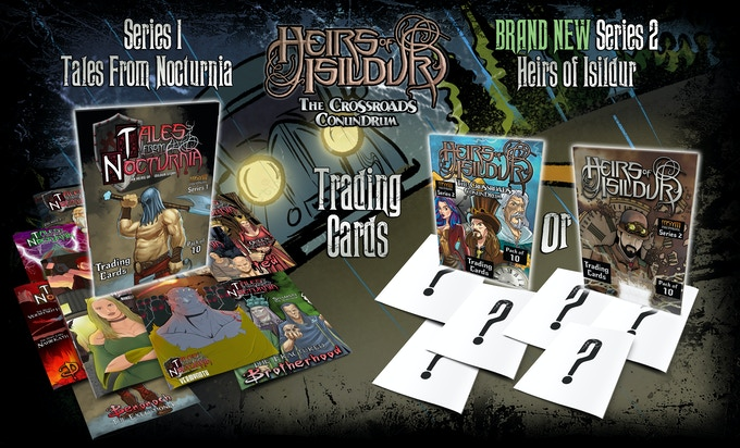INSYM Trading Cards Series #1 (Tales From Nocturnia) and the brand new INSYM Series #2 for HEIRS OF ISILDUR. Help us pick which packaging you want - based on issue 1 and the CD, or based on issue 11 and the trade!