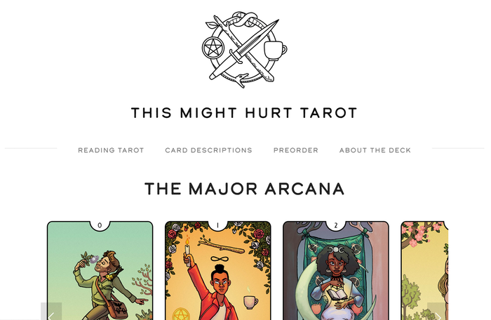 This Might Hurt Tarot Deck by Isabella Rotman — Kickstarter