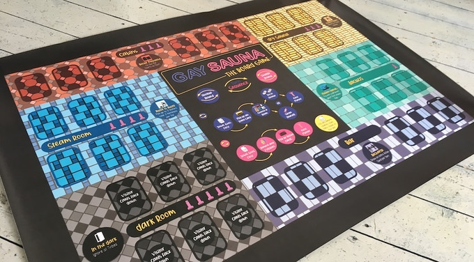 Prototype of the full-sized and colourful game board I've had printed.