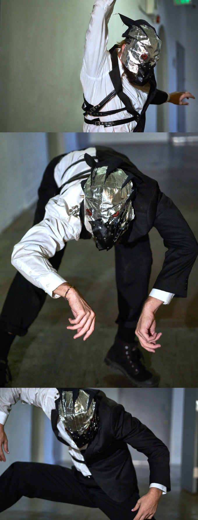 DISSECTED SUIT JACKET AND MASK : Click for detailed shot