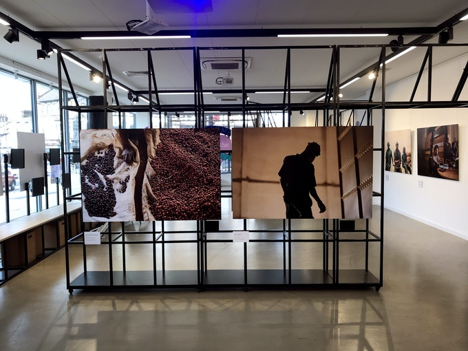 Seven 150X100cm images are on display in the current exhibition in London.