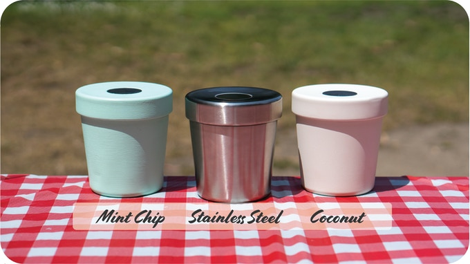The world's first vacuum insulated container for the pint of ice cream, available now in 3 colors