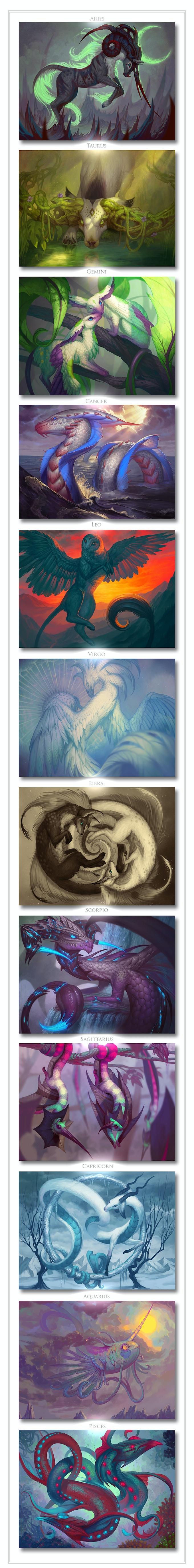 Zodiac Creatures 2020 Art Calendar