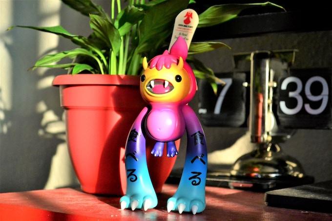 Hungry Boi Goji Designer Vinyl Toy By Okailey Okai