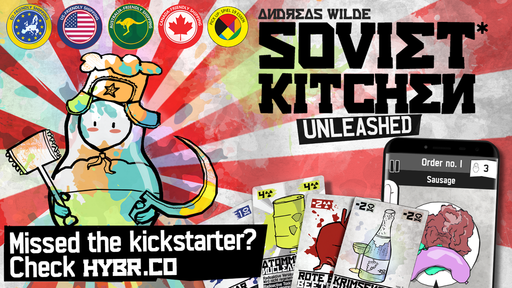 SOVIET KITCHEN UNLEASHED* - colorful coop cooking cardgame project video thumbnail