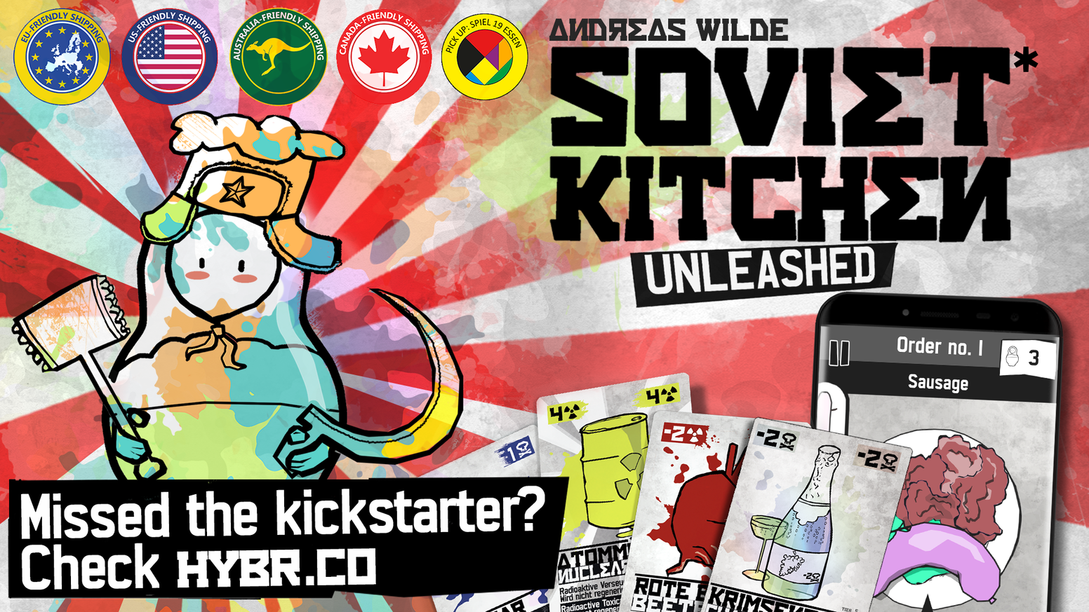 A cardgame about throwing colorful stuff in a meat grinder while trying not to kill anyone.