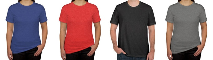 Available in Royal Blue, Red, Charcoal, and Grey