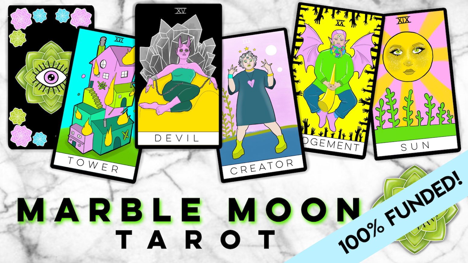 A fantastical tarot deck that focuses on inclusivity, diversity, and whimsy, as well as breaking out of the traditional gender binary.