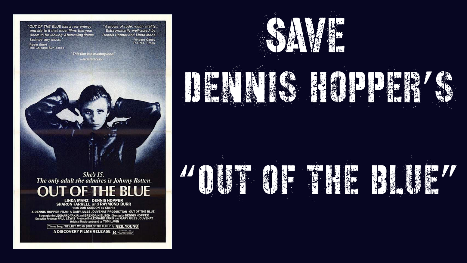 "4K Digital Restoration and 40th Anniversary Re-Release of ""Out of the Blue."""