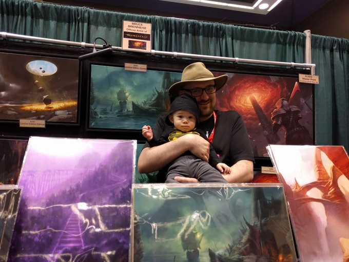 My little one and I, posing at Emerald City Comic Con 2019