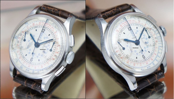 Comet Chronograph case inspired from the 1940s Jaeger-LeCout
